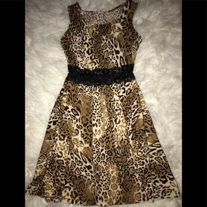Derek ❤️ heart animal print dress sz small